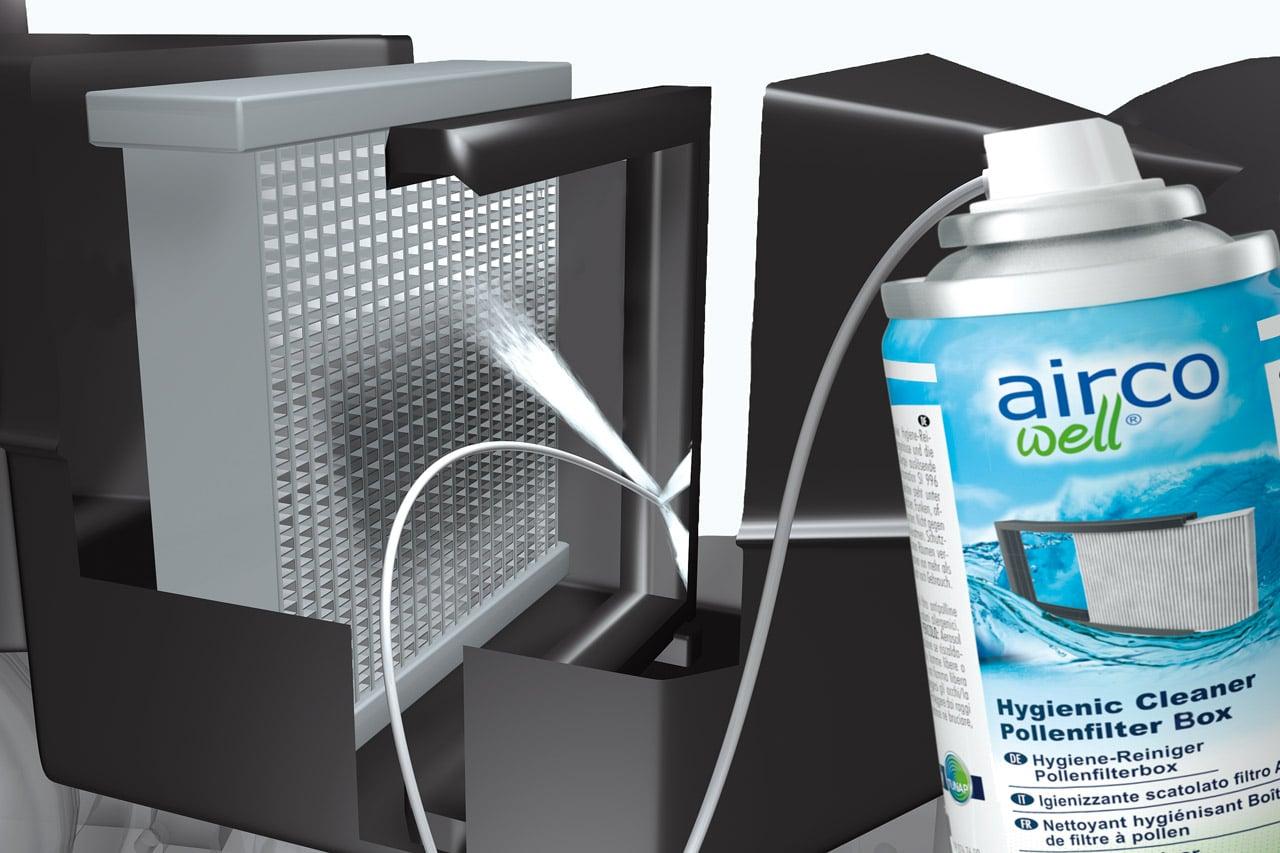 airco well Anwendung Pollenfilterbox Autohaus Schouren