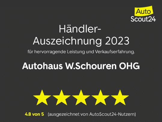 Autoscout24 Händerauszeichnung 2021 Autohaus Schouren