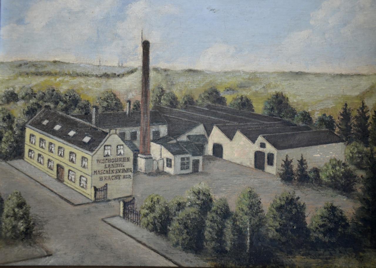 Der Schreinermeister Wilhelm Schouren führte eine Werkstatt in Bracht. 