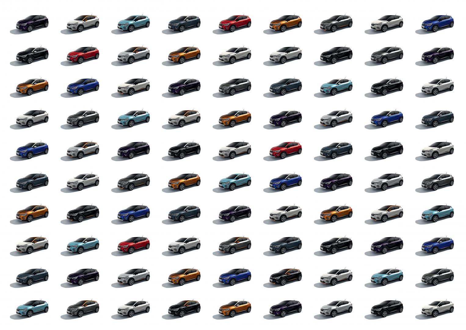 80 Farbkombinationen zur Wahl beim Renault CAPTUR Autohaus Schouren