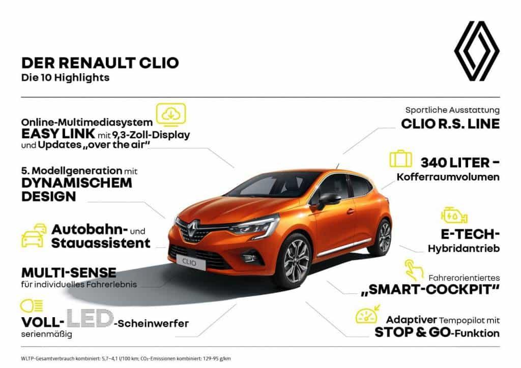 Die 10 Highlights des Renault CLIO Autohaus Schouren