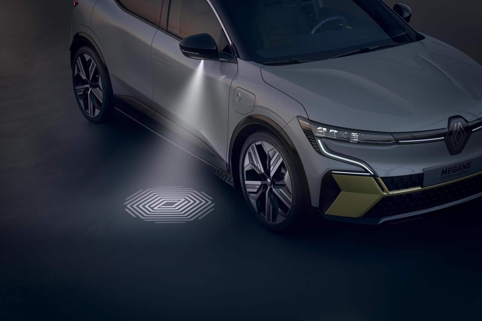 Einstiegsbeleuchtung beim Renault Mégane E-TECH Electric Autohaus Schouren