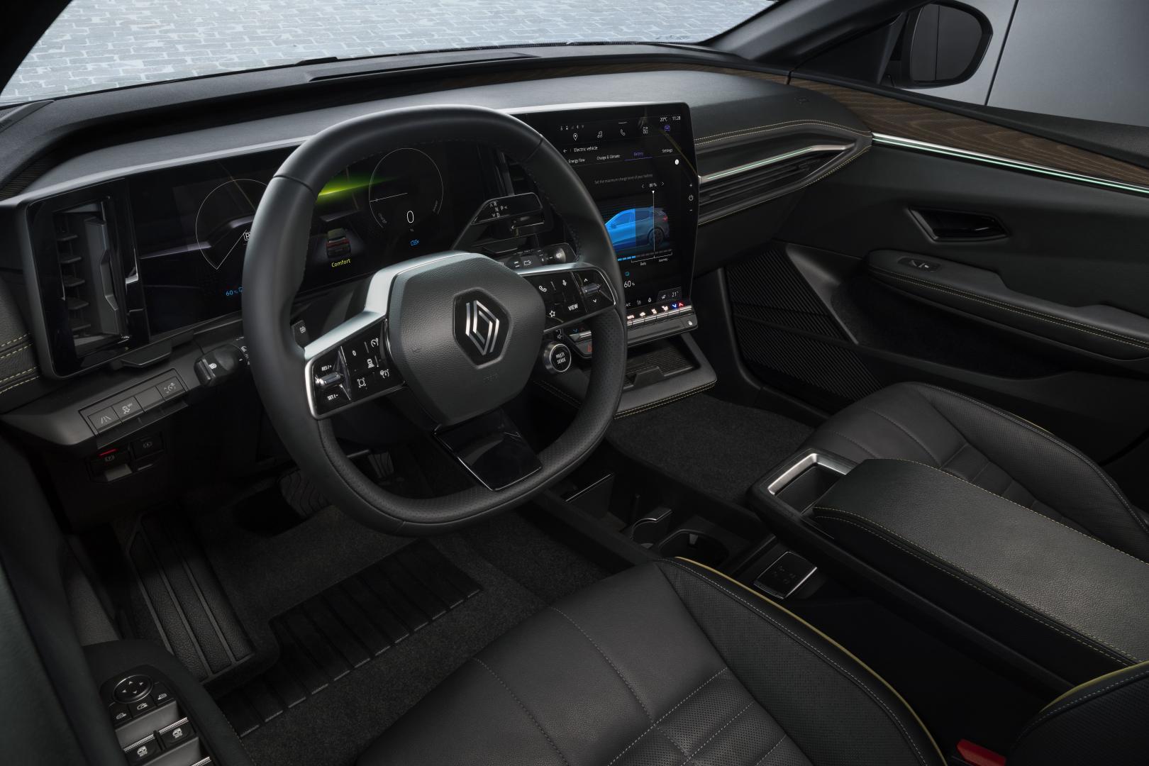Modulares Design und Stauraum beim Renault Mégane E-TECH Electric Autohaus Schouren
