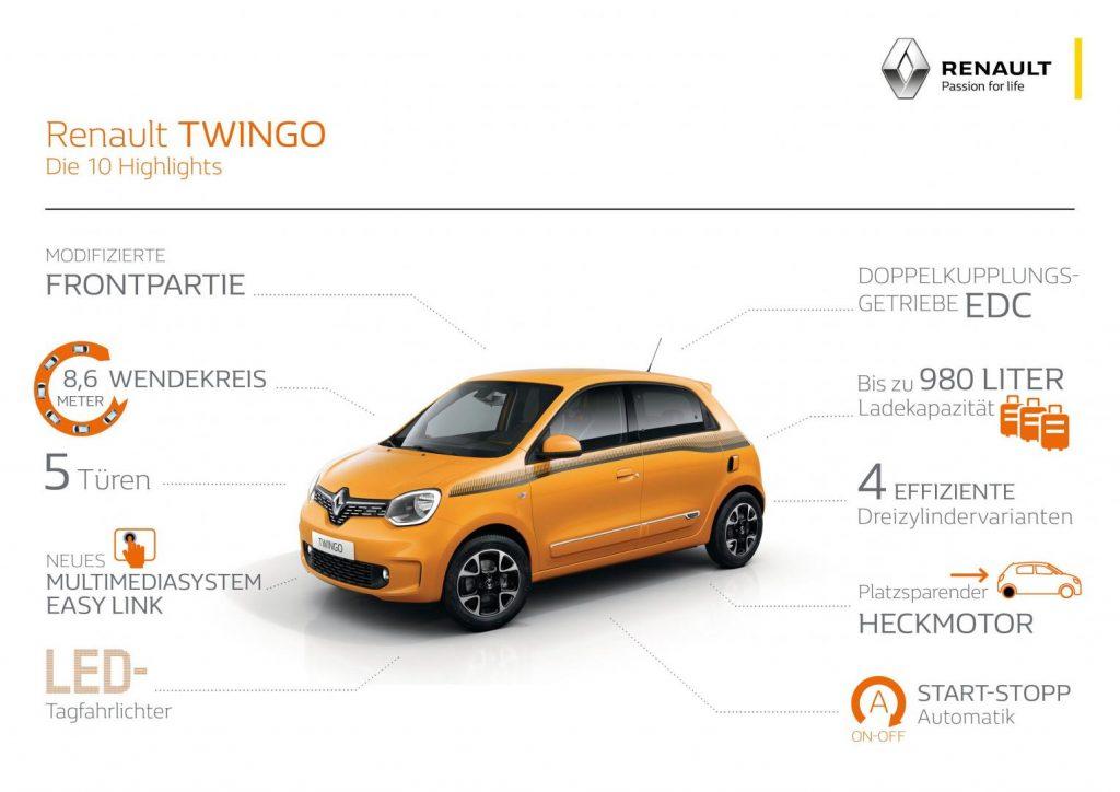Die 10 Highlights des Renault TWINGO Autohaus Schouren