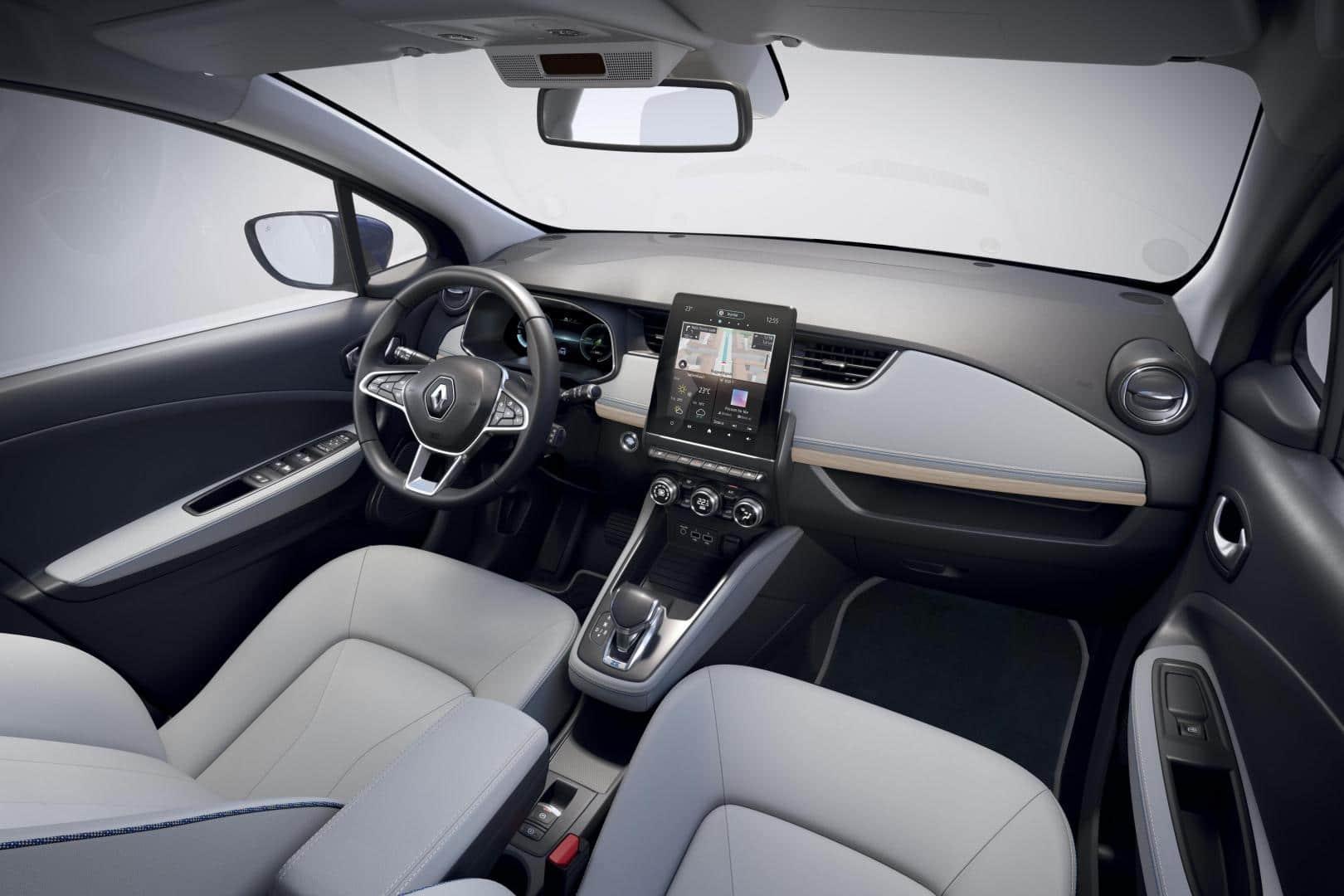 Innenraum und Cockpit im Renault ZOE Autohaus Schouren