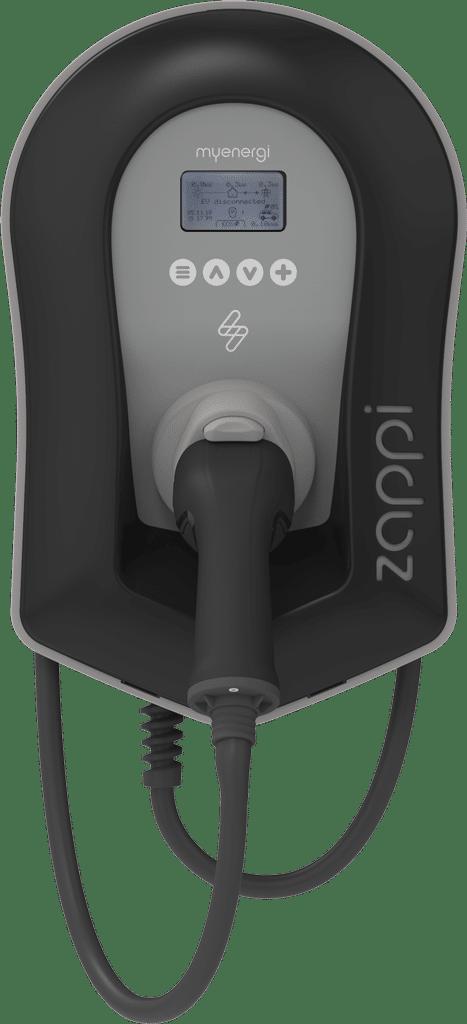 zappi V2 schwarz vorne mit Kabel - zappi Ladestationen