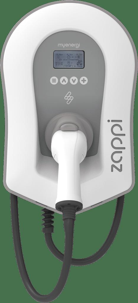 zappi V2 weiss vorne mit Kabel - zappi Ladestationen